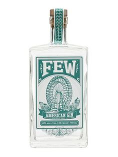 FEW American Gin : Buy Online - The Whisky Exchange - A rather unique gin from FEW, using their own tangy grain spirit as a base, before redistilling with a botanical mix including vanilla and hops picked from master distiller Paul Hletko's garden. Liquor Bottles, Vodka Bottle, Illinois, Gin Joint, Le Gin, Gin Brands, Master Of Malt, Gin Lovers, Wine Delivery