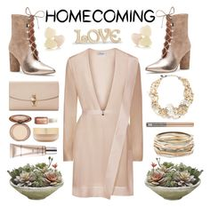 """homecoming"" by sneky ❤ liked on Polyvore featuring Sigerson Morrison, Dolce&Gabbana, Lenox, Kendra Scott, Erickson Beamon, CC, Eve Lom, Vernon François, Homecoming and polyvoreedotorial"
