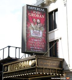 Tour Josh Groban's New Broadway Dressing Room - Natasha Pierre & The Great Comet Of 1812 Broadway Theatre, Musical Theatre, Broadway Shows, Great Comet Of 1812, The Great Comet, Lucas Steele, Josh Groban Broadway, Jessie Mueller, Imperial Theater