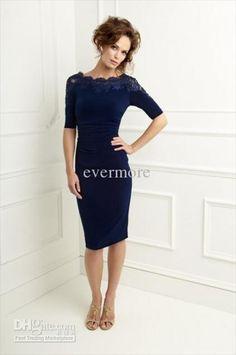 navy blue dress, matching shoes light beige
