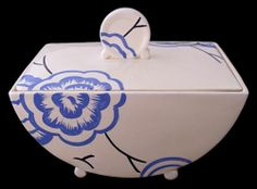 Clarice Cliff Bizarre Tureen And Cover In The Clytia Pattern - 1930's Art Deco