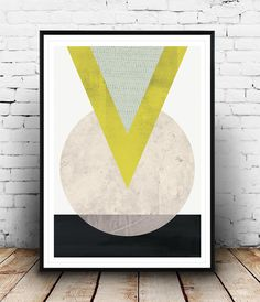 Minimalist art Geometric print Triangle print Nordic by Wallzilla