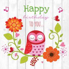 Happy birthday to you. Happy Birthday Owl, Happy Birthday Pictures, Happy Birthday Messages, Happy Birthday Quotes, Birthday Love, Happy Birthday Greetings, Vintage Birthday Cards, Birthday Greeting Cards, Happy Wishes