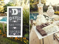 S'Mores Bar--Wouldn't have to just be for a wedding either.  White chocolate great idea too.