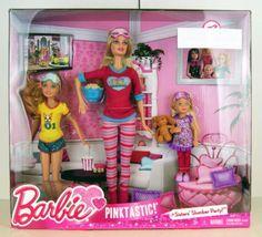 NIB-Barbie-Pink-Tastic-Sister-Slumber-Party-3-Doll-Set-Barbie-Stacy-Chelsea