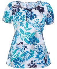 Style # P4352SRF: Peaches Scrubs Summer Reflections Print Top