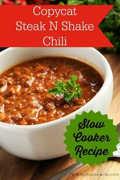 Copycat Steak N Shake Chili Recipe on Yummly