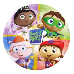 """The Official PBS KIDS Shop   Super Why 9"""" Party Plate - 8 Count"""