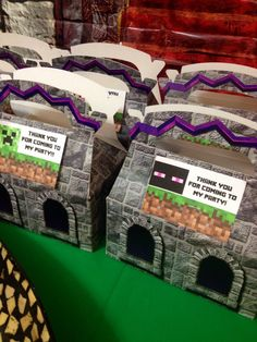 Minecraft Party Favor to go box!