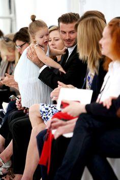 David and Harper Beckham at Victoria Beckham - New York Fashion Week.