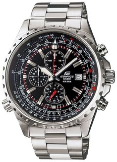 The Casio Men's Edifice chrome steel Multi-Operate Chronograph Watch exists on the crossroads of comfort, style and functionality…which is the place you