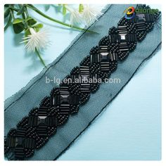 Hot selling bead trimming bead embroidery patterns beads accessories black beads gold chain designs for clothing Tambour Beading, Tambour Embroidery, Bead Embroidery Patterns, Couture Embroidery, Embroidery Transfers, Ribbon Embroidery, Beading Patterns, Embroidery Designs, Couture Beading