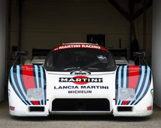 1983 Lancia in iconic Martini racing livery. Part of the Group C Le Mans sports cars at the Goodwood 73 Members Meeting, March 2015 Sports Car Racing, F1 Racing, Nascar, Racing Stickers, Classic Race Cars, Vintage Racing, Vintage Sport, Martini Racing, My Dream Car