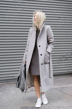 Girl Grey Streetstyle - Maison de Choup Jacket