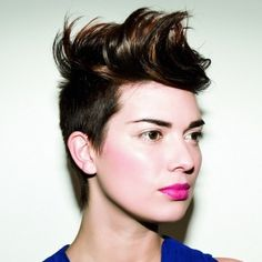 Stylish Short Mohawk Hair Styles #blazeSalon #hairstyles #haircuts #Color #redhair