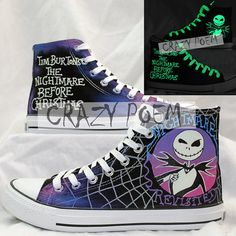 #TheNightmareBeforeChristmas The Nightmare Before Christmas Hand Painting Shoes Custom shoes