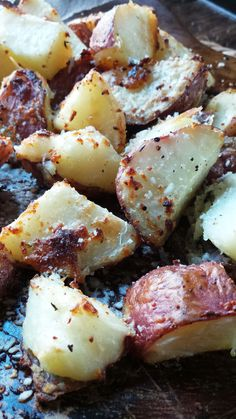 New York Strip with Parmesan Crusted Potatoes