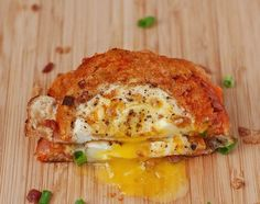 Egg in a Cheesy Basket - sounds delicious