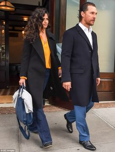 Stylish: Matthew McConaughey and wife Camila Alves appeared to be on the same page fashion...