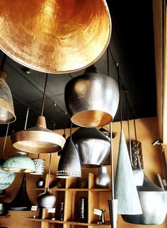 Handmade pendant lamps made of copper. Inspired by Tom Dixon?My boyfriend, Sondre, making sure the local carpenters do a good job on the tables we've ordered ;)Handmade ceramics from Jenggala…
