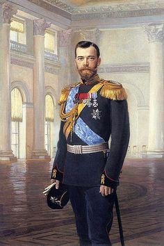 Nicolás II de Rusia pintado por Earnest Lipgart