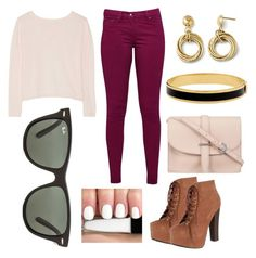 """""""untitled #25"""" by daniella0522 on Polyvore featuring Great Plains, Banjo & Matilda, M.N.G, Halcyon Days, Breckelle's and Ray-Ban"""