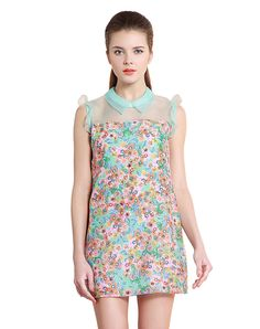 Check the details and price of this Floral Patterned Sleeveless Mini Dres and buy it online. Vipme.com offers high-quality Day Dresses at affordable price.