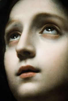 Madonna in Glory (in detail), Carlo Dolci (c. 1670)