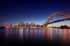 Each of the series of spectacular shots captures the pulsing energy of its location through vivid light trails; here the lights of Sydney Harbour reflect in the waters Cityscape Photography, Digital Photography, Landscape Photography, Nature Photography, Photography Ideas, Sydney, Australia Landscape, Light Trails, Interesting Buildings