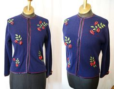 Sweet 1950's Ladybugs lambswool and cashmere blend by wearitagain, $125.00