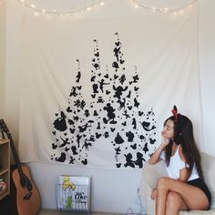 DIY Disney Castle Tapestry ♡ More