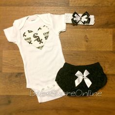 Chicago White Sox Outfit and Headband by BebeSucreOnline on Etsy