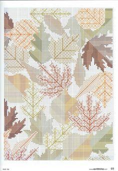 Осенние листья, подушка в стиле блэкворк. Обсуждение на LiveInternet - Российский Сервис Онлайн-Дневников