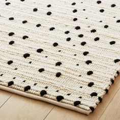 Shop Orville Black Dot Rug Plush loops of black and ivory reveal a subtle diamond pattern in nubby knots. High and cushy underfoot, rug pile is extra dense for a super-soft feel. Black Rug, White Rug, Black Dots, Carpet Styles, Geometric Rug, Modern Area Rugs, Home Rugs, My New Room, Rugs In Living Room