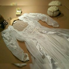 Vintage Bridal Peignoir & Nightgown set Soft-white, flowing peignoir & nightgown bridal set.  Ultra-feminine!  Exudes romance, & is drop dead gorgeous!  100% nylon (super SOFT like satin).  Peignoir is sheer with front tie & amazing detail on front edges, arms, & wrist point.  Nightgown is slightly sheer with non-adjustable spaghetti straps, exquisite detail on bodice, tiny gathers at V-waist, & tiny scalloped soft lace trim at hem.  VS gold-stitched label.  EXC condition, I wore it 1…