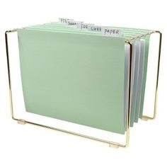 Gold and mint file folders: http://www.stylemepretty.com/living/2016/09/01/the-chicest-back-to-work-office-supplies/