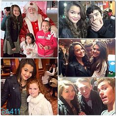 Paris Berelc with Dylan Riley Snyder, Francesca Capaldi, Austin North and more at the 2013 Hollywood Christmas Parade
