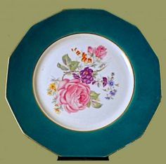 35 best vintage and antique dinnerware images on pinterest url french dinner or salad plates 875 hand painted floral dinner or salad plates fandeluxe Image collections