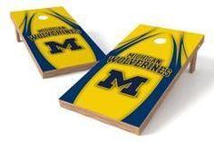Michigan Wolverines Single Cornhole Board - V