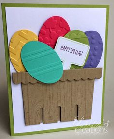 Stampin' Up! Happy Spring Egg Basket Card Elaine's Creations