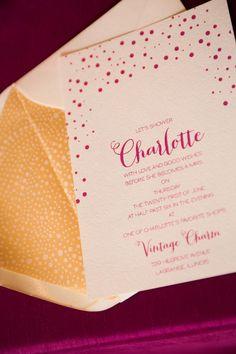 Bridal Shower Invitation by Courtney Callahan Paper | Photography:dennisleephoto.com