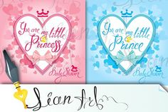 2 cards. Baby Shower by Lian-art on @creativemarket