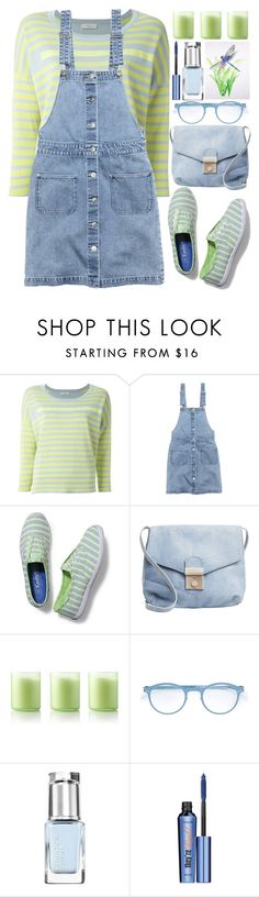 """Overall Dress"" by grozdana-v ❤ liked on Polyvore featuring Paul by Paul Smith, H&M, Keds, Bliss, Mykita, Leighton Denny and Benefit"
