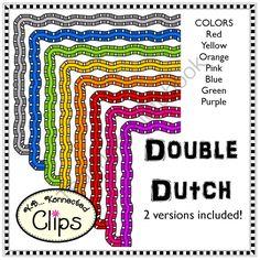 Double Dutch Frames - Clip Art  from KB Konnected Clips on TeachersNotebook.com -  (33 pages)  - Double Dutch Frames - Clip Art