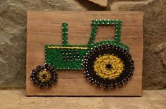 Custom Wood John Deere Tractor String Art Home Decor Cute Crafts, Crafts To Do, Arts And Crafts, Diy Crafts, Diy Wall Art, Diy Art, Nail String Art, String Art Patterns, Toddler Gifts