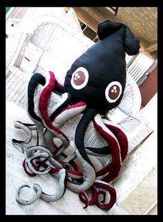 Super Giant Squid Octopus Plush by LiLyRevenge on Etsy, $888.00