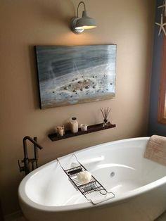 St. Cloud MN Master Bathroom Remodel 4 beach-style-bathroom - galvinized & oil rubbed bronze