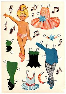 Ballerina Paper doll; vintage