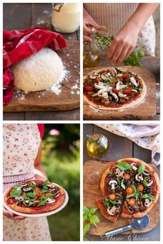 Pizza très légère aux légumes confits ( Sans fromage, Vegan, IG modéré ) Batch Cooking, Healthy Cooking, Vegetarian Recipes, Healthy Recipes, No Salt Recipes, Vegan Pizza, Pasta, Slow Food, Healthy Treats