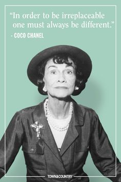 Coco Chanel famously lived her life according to her own rules. Her musings on elegance, love, and life are as timeless as her classic Chanel designs. Take a look at the founder of Chanel's most memorable, inspiring, and outspoken quotes here. New Fashion, Trendy Fashion, Woman Fashion, Fashion Quiz, Fashion Tips, Estilo Coco Chanel, Great Quotes, Inspirational Quotes, Awesome Quotes